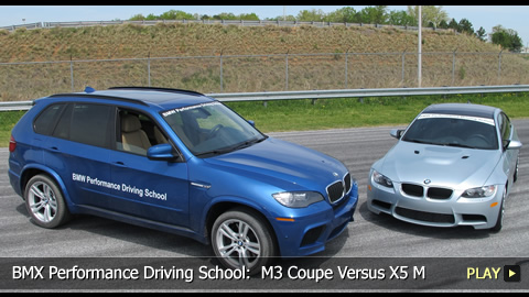 Racing at BMX Performance Driving School:  M3 Coupe Versus X5 M
