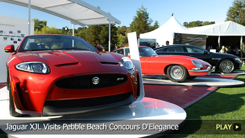 Jaguar XJL Visits Pebble Beach Concours D'Elegance Automotive Weekend