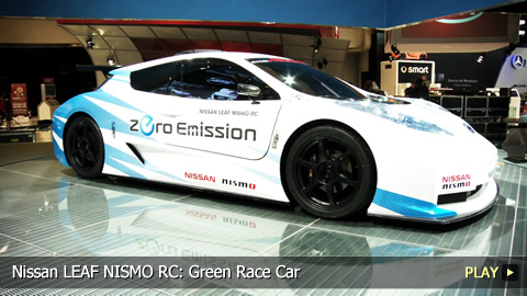Nissan LEAF NISMO RC: Green Race Car