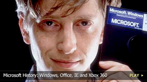 Microsoft History: Windows, Office, IE and Xbox 360