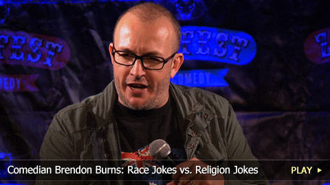 Comedian Brendon Burns: Race Jokes vs. Religion Jokes