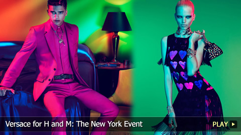 Versace for H and M: The New York Event