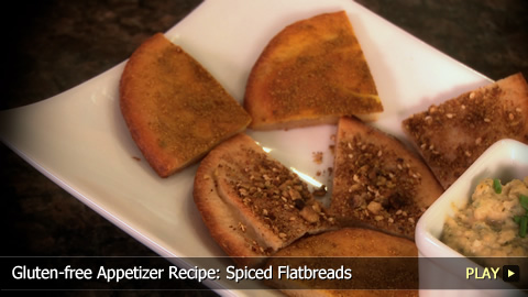 Gluten-free Appetizer Recipe: Spiced Flatbreads