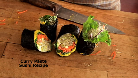 How To Make a Curry Sushi Wrap