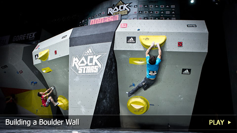 adidas ROCKSTARS Bouldering Competition: Building a Boulder Wall