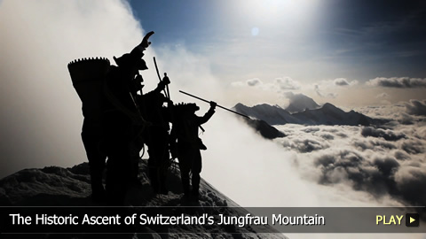 Mammut Anniversary Basecamp - The Historic Ascent of Switzerland's Jungfrau Mountain