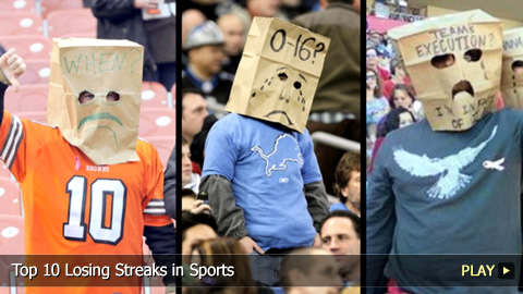 Top 10 Losing Streaks in Sports