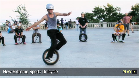 New Extreme Sport: Unicycle