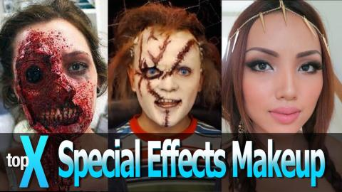 Top 10 YouTube Special Effects Makeup Channels -  TopX Ep.12