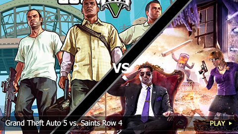 Grand Theft Auto 5 vs. Saints Row 4